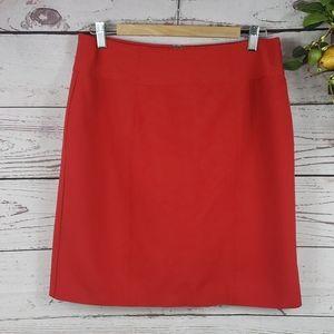 WORTHINGTON Red Knee High Skirt Size 14